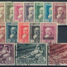 Sellos: SPAIN. QUINTA DE GOYA. EDIFIL 499-516 (1930). SERIE COMPLETA USADA.. Lote 190042515