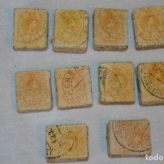 Sellos: OPORTUNIDAD 1000 SELLOS, ALFONSO XIII MEDALLÓN, 15 CÉNTIMOS, REVERSO NUMERADOS, PASTILLAS 100 ¡MIRA!. Lote 190432633