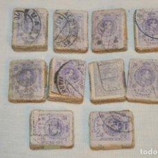 Sellos: OPORTUNIDAD 1000 SELLOS, ALFONSO XIII MEDALLÓN, 20 CÉNTIMOS, REVERSO NUMERADOS, PASTILLAS 100 ¡MIRA!. Lote 190457752