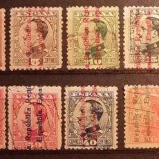 Sellos: ESPAÑA 1931 - ALFONSO XIII, SOBRECARGADOS - EDIFIL 593 AL 602.. Lote 190474570
