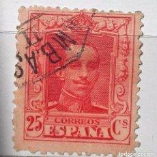 Sellos: ESPAÑA 1922 SELLO º ALFONSO XIII 25C USADO, CON Nº EN EL DORSO. Lote 190538477