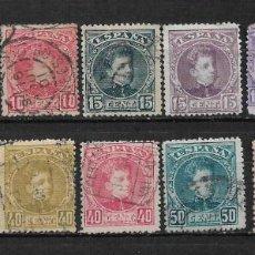 Sellos: ESPAÑA 1901 - 1905 EDIFIL 241/254 USADO - 15/16. Lote 190564592