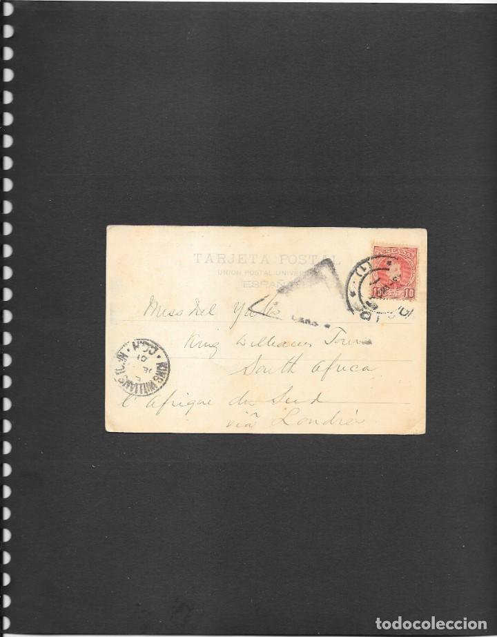 Sellos: MADRID POSTAL PRINCIPIOS DE LA CONSTRUCCION CATEDRAL DE LA ALMUDENA CIRCULADA A LONDRES EN 1901 - Foto 2 - 190813877