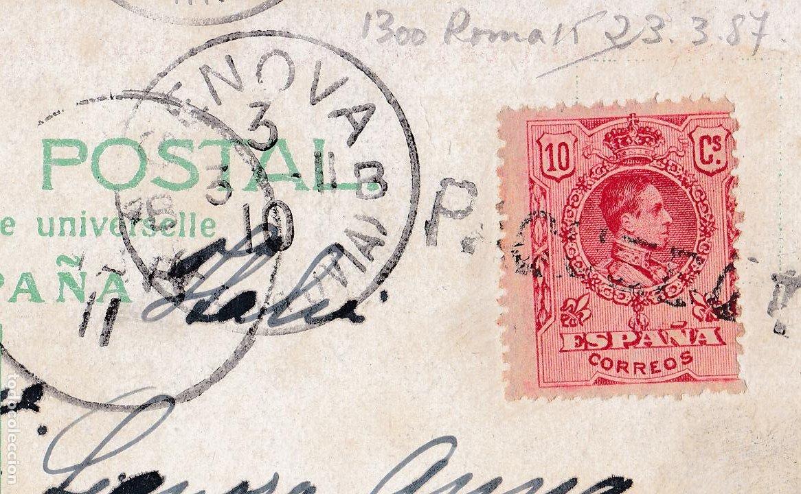 Sellos: F7-22- Postal LAS PALMAS- ITALIA 1911 Matasellos Lineal PAQUEBOT - Foto 2 - 190894238