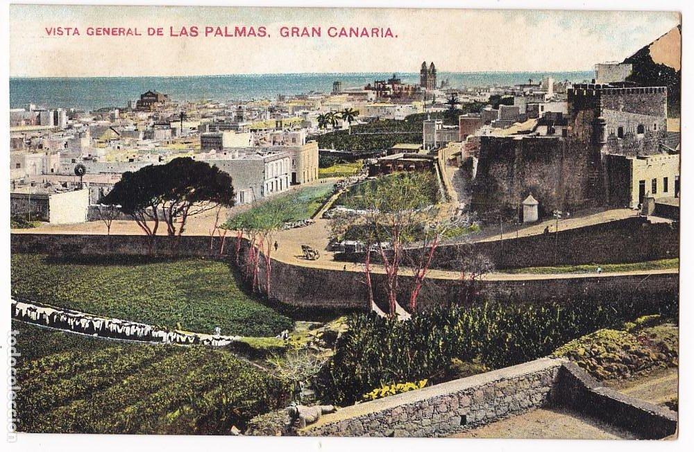 Sellos: F7-22- Postal LAS PALMAS- ITALIA 1911 Matasellos Lineal PAQUEBOT - Foto 3 - 190894238
