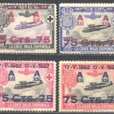 Sellos: ESPAÑA, 1927 EDIFIL Nº 388 / 391 /**/ SIN FIJASELLOS. Lote 191011325