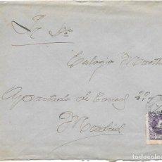 Sellos: CADETE. EDIFIL 246. SOBRE CIRCULADO DESDE FUENTES DE OÑORO A MADRID. 1907. Lote 191356475
