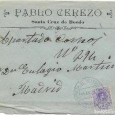 Sellos: MEDALLON. EDIFIL 270. SOBRE CIRCULADO DE ESPINOSA DE VILLAGORDO A MADRID. 1911. Lote 191358021