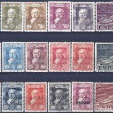 Sellos: EDIFIL 499-516 QUINTA DE GOYA 1930 (SERIE COMPLETA). VALOR CATÁLOGO: 61 €. LUJO. MLH.. Lote 191370425