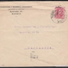 Sellos: CARTA, MADRID - BARCELONA, MATASELLOS BUZONES COLUMNA, MEDIODÍA MADRID.. Lote 191659711