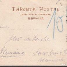 Sellos: TARJETA POSTAL, CORUÑA - FRANCIA, MARCA *T, ESPAGNE*, TASADA POR FALTA DE FRANQUEO.. Lote 191660787