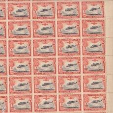 Selos: GP20- CRUZ ROJA 50 CTS AÉREO EDIFIL 346 HOJA COMPLETA 100 SELLOS ** SIN FIJASELLOS .. Lote 191863666