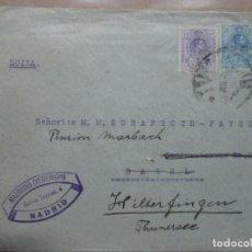 Sellos: CIRCULADA 1915 DE MADRID A BASEL SUIZA. Lote 191989443