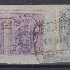 Timbres: KK8- ALFONSO XIII MEDALLÓN 15/25 CTS FRANQUEO 3 SELLOS PERFORADOS BERP. Lote 192369676