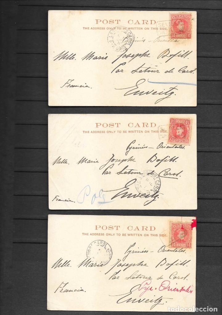 Sellos: ESPAÑA ONCE POSTALES DE LONDRES AÑO 1901 CON MATASELLOS DE CARTERIA ESPAÑOLA- CABEZA DE SAN JUAN - Foto 4 - 191690541