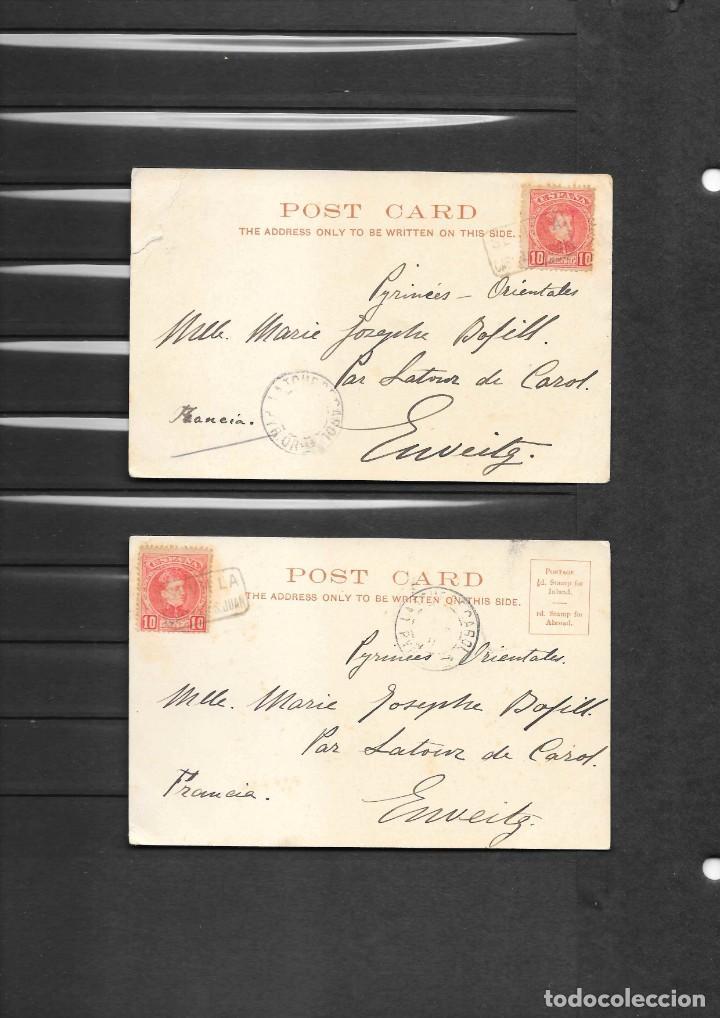 Sellos: ESPAÑA ONCE POSTALES DE LONDRES AÑO 1901 CON MATASELLOS DE CARTERIA ESPAÑOLA- CABEZA DE SAN JUAN - Foto 5 - 191690541