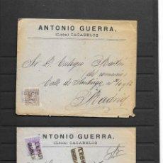 Sellos: LEON 3 SOBRES CON MATASELLOS DE CARTERIAS CIRCULADOS A MADRID, TAMBIÉN TEMÁTICA MASONES. Lote 193796877