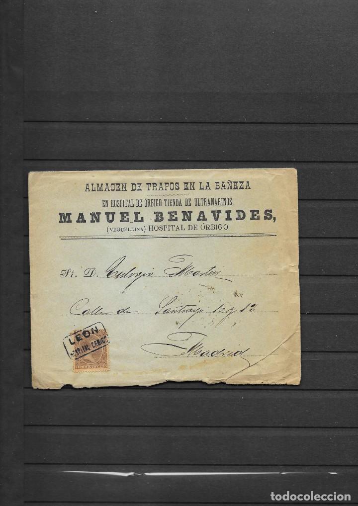 Sellos: LEON 3 SOBRES CON MATASELLOS DE CARTERIAS CIRCULADOS A MADRID, también temática Masones - Foto 2 - 193796877