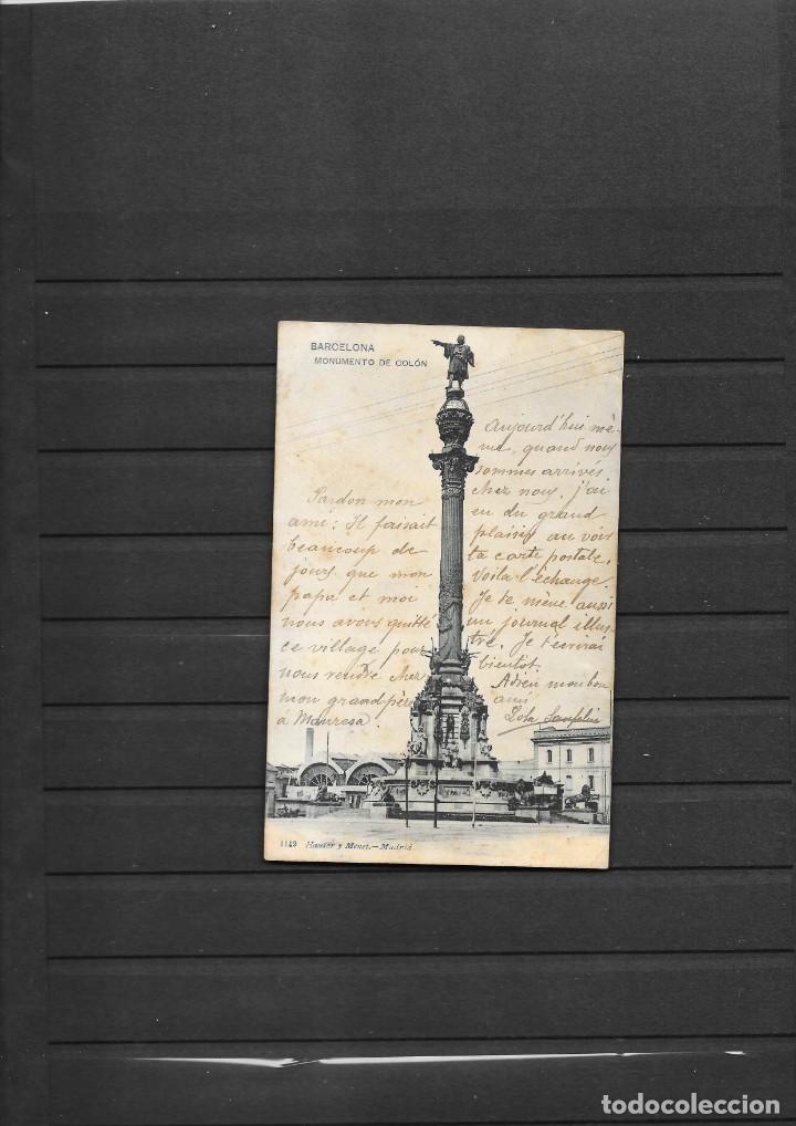 Sellos: BARCELONA-LLINAS POSTAL CIRCULADA EN 1903 A FRANCIA MATASELLO DE CARTERIA LLINAS - Foto 2 - 193804126