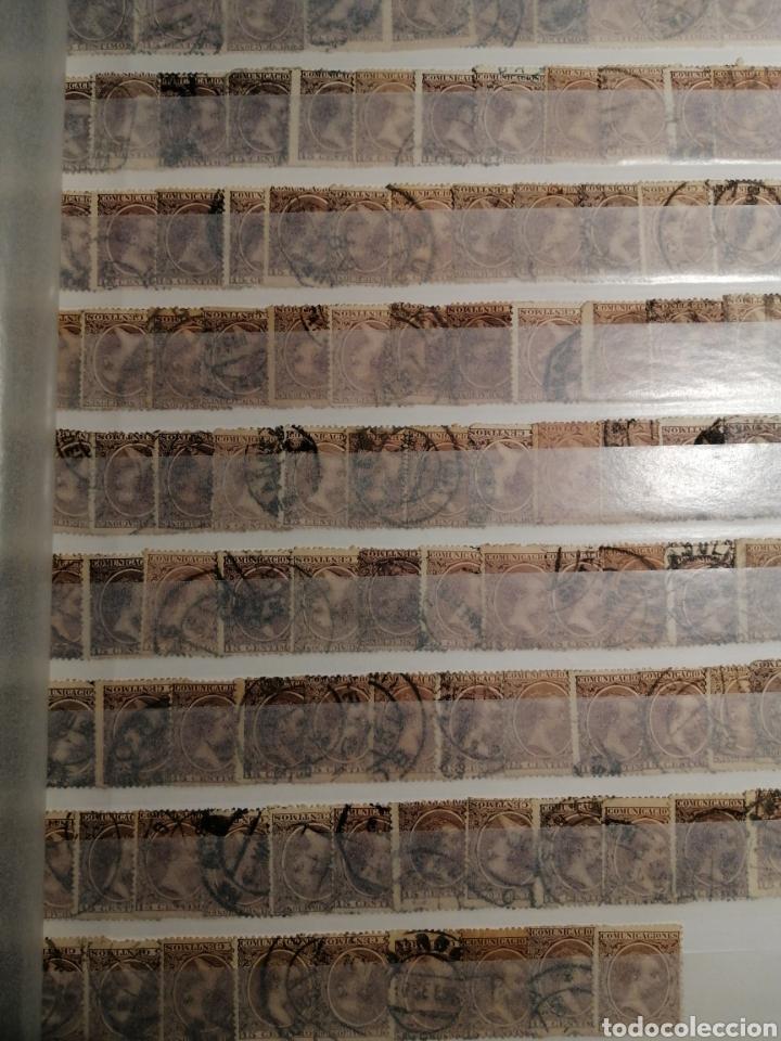 Sellos: Pelón sello Alfonso XIII usados lote de 14 páginas - Foto 2 - 193849911