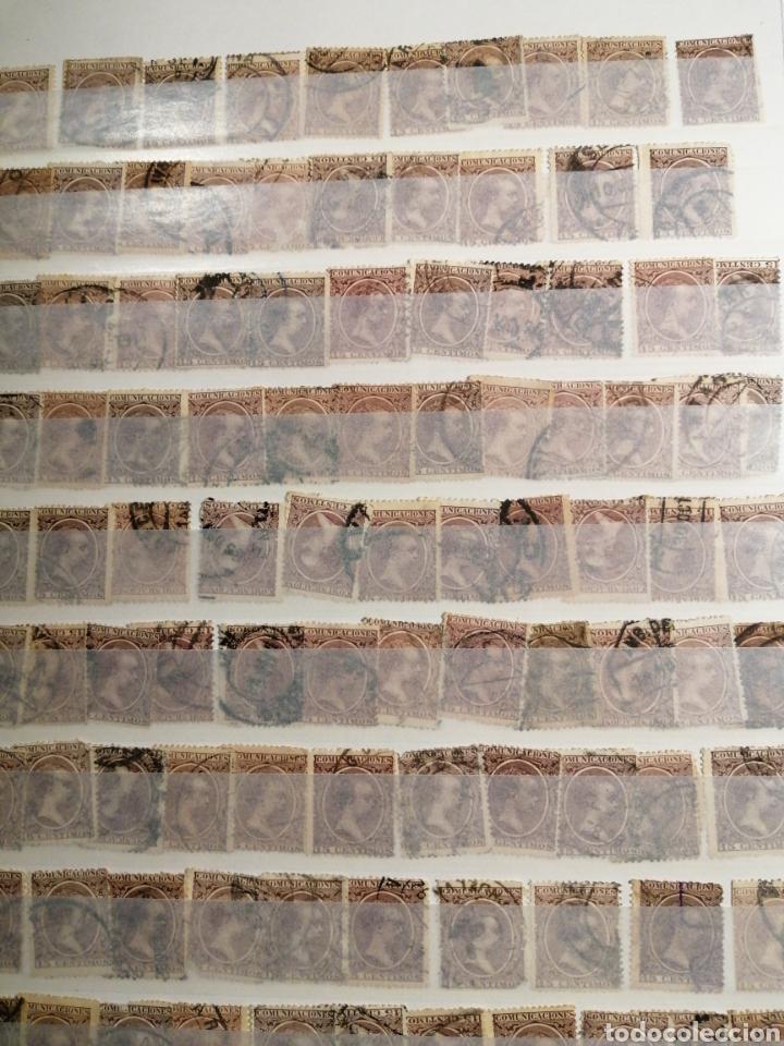 Sellos: Pelón sello Alfonso XIII usados lote de 14 páginas - Foto 3 - 193849911
