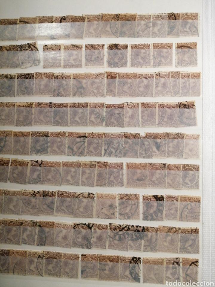 PELÓN SELLO ALFONSO XIII USADOS LOTE DE 14 PÁGINAS (Sellos - España - Alfonso XIII de 1.886 a 1.931 - Usados)