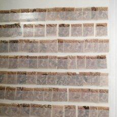Sellos: PELÓN SELLO ALFONSO XIII USADOS LOTE DE 14 PÁGINAS. Lote 193849911