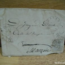 Sellos: SOBRE CIRCULADO A MONZON - AÑO 1891FECHADOR DE TOLEDO Y ZARAGOZA. Lote 193856722