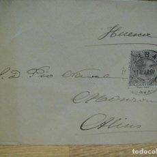 Sellos: SOBRE CIRCULADO DE BILBAO A MONZON - AÑO 1891 . Lote 193856993