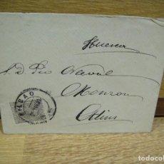 Sellos: SOBRE CIRCULADO DE BILBAO A MONZON - AÑO 1891 . Lote 193857056