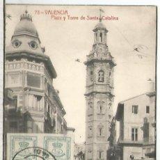 Sellos: POSTAL VALENCIA 1912 A BELGICA SELLOS ALFONSO XIII MEDALLON Y CUARTILLOS. Lote 193954663