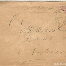 Sellos: BARCELONA CORREO INTERIOR IMPRESOS 1892 SELLO ALFONSO XIII PELON BISECTADO. Lote 194141828
