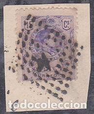 ESPAÑA.- SELLO Nº 270 ALFONSO XIII MATASELLADO ROMBO DE PUNTOS CON ESTRELLA. (Sellos - España - Alfonso XIII de 1.886 a 1.931 - Usados)