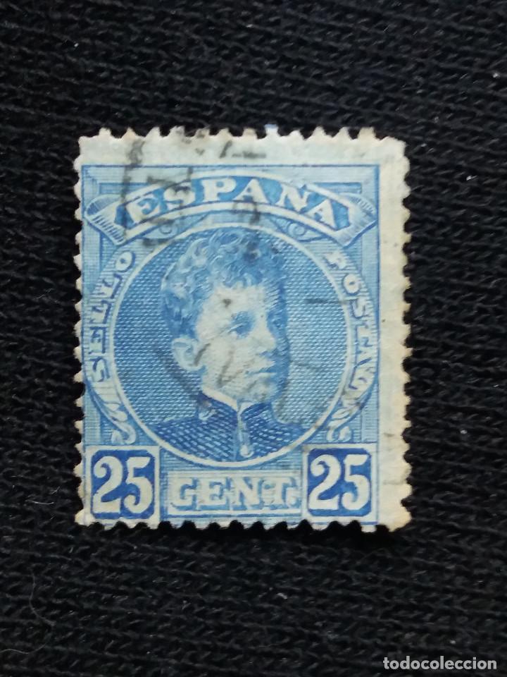 ESPAÑA, 25 CENT, ALFONSO XIII, AÑO 1900. (Sellos - España - Alfonso XIII de 1.886 a 1.931 - Usados)
