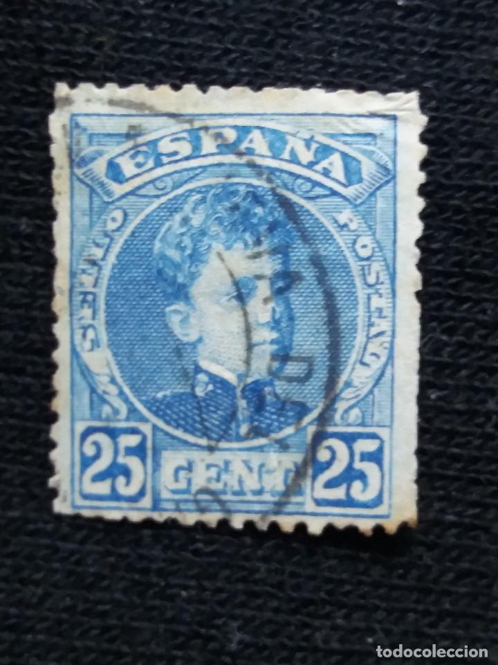 ESPAÑA, 25 CENT, ALFONSO XIII, AÑO 1901. (Sellos - España - Alfonso XIII de 1.886 a 1.931 - Usados)