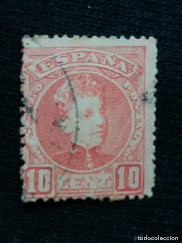ESPAÑA, 10 CENT, ALFONSO XIII, AÑO 1901. (Sellos - España - Alfonso XIII de 1.886 a 1.931 - Usados)