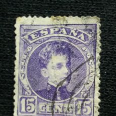 Sellos: ESPAÑA, 15 CENT, ALFONSO XIII, AÑO 1901.. Lote 194230886