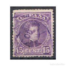 Sellos: [CF1082A] ESPAÑA 1905, ALFONSO XIII, 15 C.VIOLETA (U). Lote 194256846