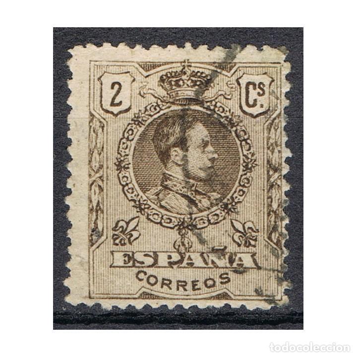 [CF1078A] ESPAÑA 1909, ALFONSO XIII, 2 C. CASTAÑO (U) (Sellos - España - Alfonso XIII de 1.886 a 1.931 - Usados)