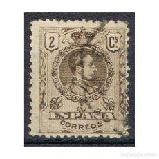 Sellos: [CF1078A] ESPAÑA 1909, ALFONSO XIII, 2 C. CASTAÑO (U). Lote 194257152