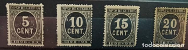 ESPAÑA. EDIFIL 236/39 (*). CIFREAS EN COLOR NEGRO. (Sellos - España - Alfonso XIII de 1.886 a 1.931 - Nuevos)