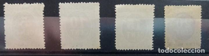 Sellos: ESPAÑA. EDIFIL 236/39 (*). CIFREAS EN COLOR NEGRO. - Foto 2 - 194280955