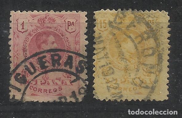 FIGUERES GERONA GIRONA FECHADORES ALFONSO XIII (Sellos - España - Alfonso XIII de 1.886 a 1.931 - Usados)