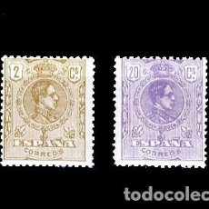 Sellos: 289/90** ALFONSO XIII. TIPO MEDALLON. C.N.. Lote 194582625