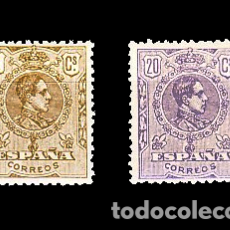 Sellos: 289/90** ALFONSO XIII. TIPO MEDALLON. B.C.. Lote 194582630