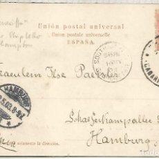 Sellos: CANARIAS TENERIFE TARJETA SASTERIA CUATRO NACIONES MAT 1903 Y MAT NAVAL DE SOUTHAMPTON SHIP LETTER. Lote 194607420
