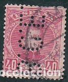 ESPAÑA.- SELLO Nº 251 ALFONSO XIII PERFORADO B.C.E.. MATASELLADO. (Sellos - España - Alfonso XIII de 1.886 a 1.931 - Usados)