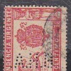 Sellos: ESPAÑA.- SELLO Nº 256 ALFONSO XIII PERFORADO B.H.A. (AL REVES).. MATASELLADO. . Lote 194765007