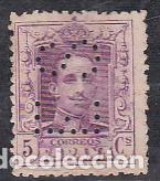 ESPAÑA.- SELLO Nº 311 ALFONSO XIII PERFORADO E.S. MATASELLADO. (Sellos - España - Alfonso XIII de 1.886 a 1.931 - Usados)