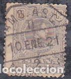 ESPAÑA.- SELLO Nº 290 DE ALFONSO XIII MATASELLOS AMBULANTE PEDERNALES BILBAO (Sellos - España - Alfonso XIII de 1.886 a 1.931 - Usados)